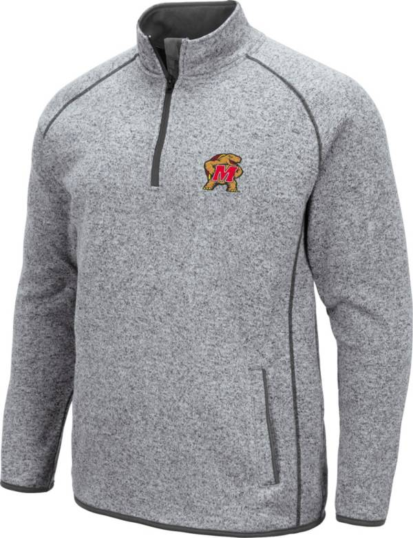 Colosseum Men's Maryland Terrapins Grey Amur Quarter-Zip Shirt product image