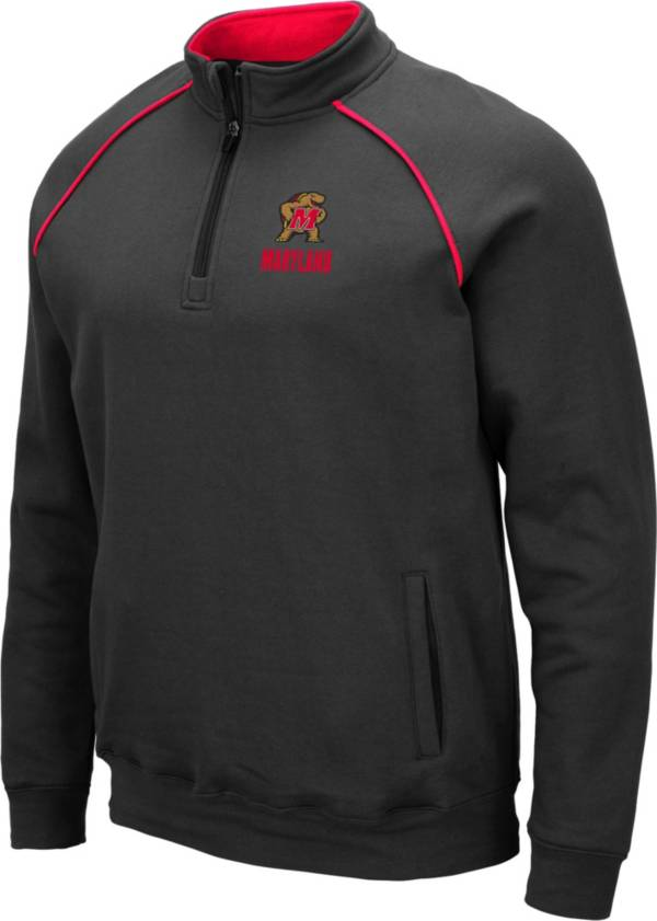 Colosseum Men's Maryland Terrapins Grey VF Staghorn Quarter-Zip Pullover Shirt product image