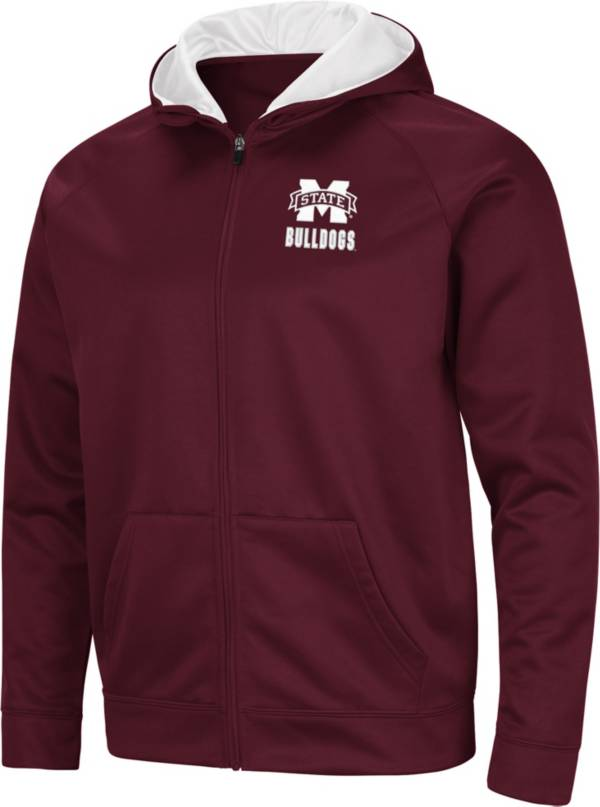 Colosseum Men's Mississippi State Bulldogs Maroon Full-Zip Hoodie product image