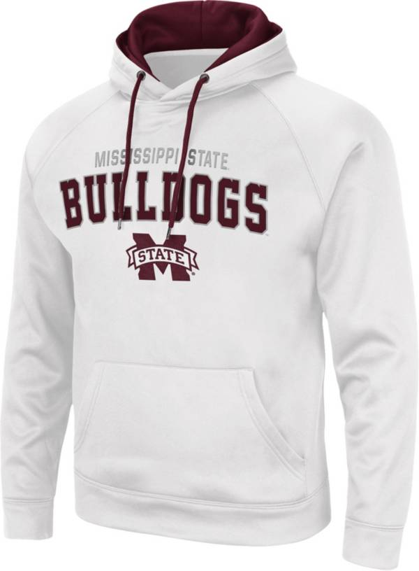 Colosseum Men's Mississippi State Bulldogs White Pullover Hoodie product image