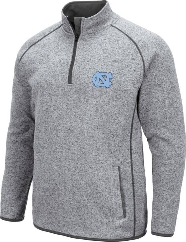 Colosseum Men's North Carolina Tar Heels Grey Amur Quarter-Zip Shirt product image