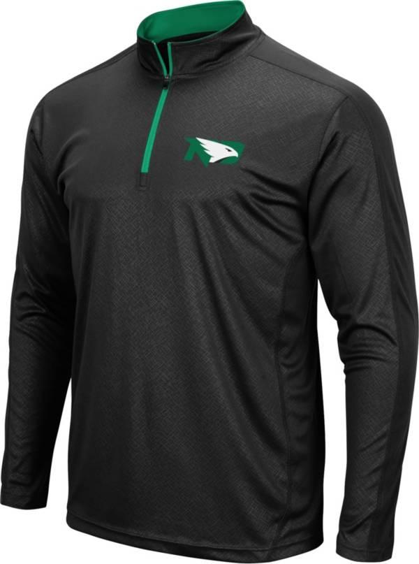 Colosseum Men's North Dakota Fighting Hawks Loggerhead Quarter-Zip Black Shirt product image