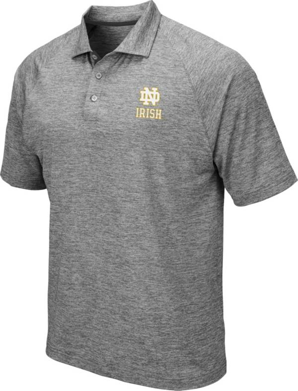 Colosseum Men's Notre Dame Fighting Irish Grey Chip Shot Polo product image