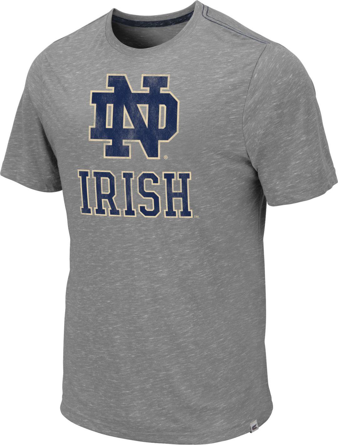 1d2c0670 Colosseum Men's Notre Dame Fighting Irish Grey Campinas T-Shirt.  noImageFound. 1