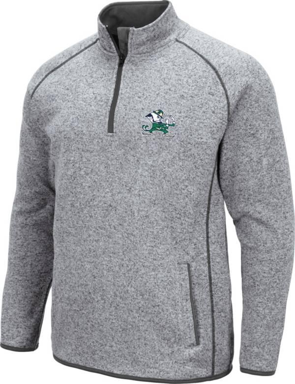 Colosseum Men's Notre Dame Fighting Irish Grey Amur Quarter-Zip Shirt product image