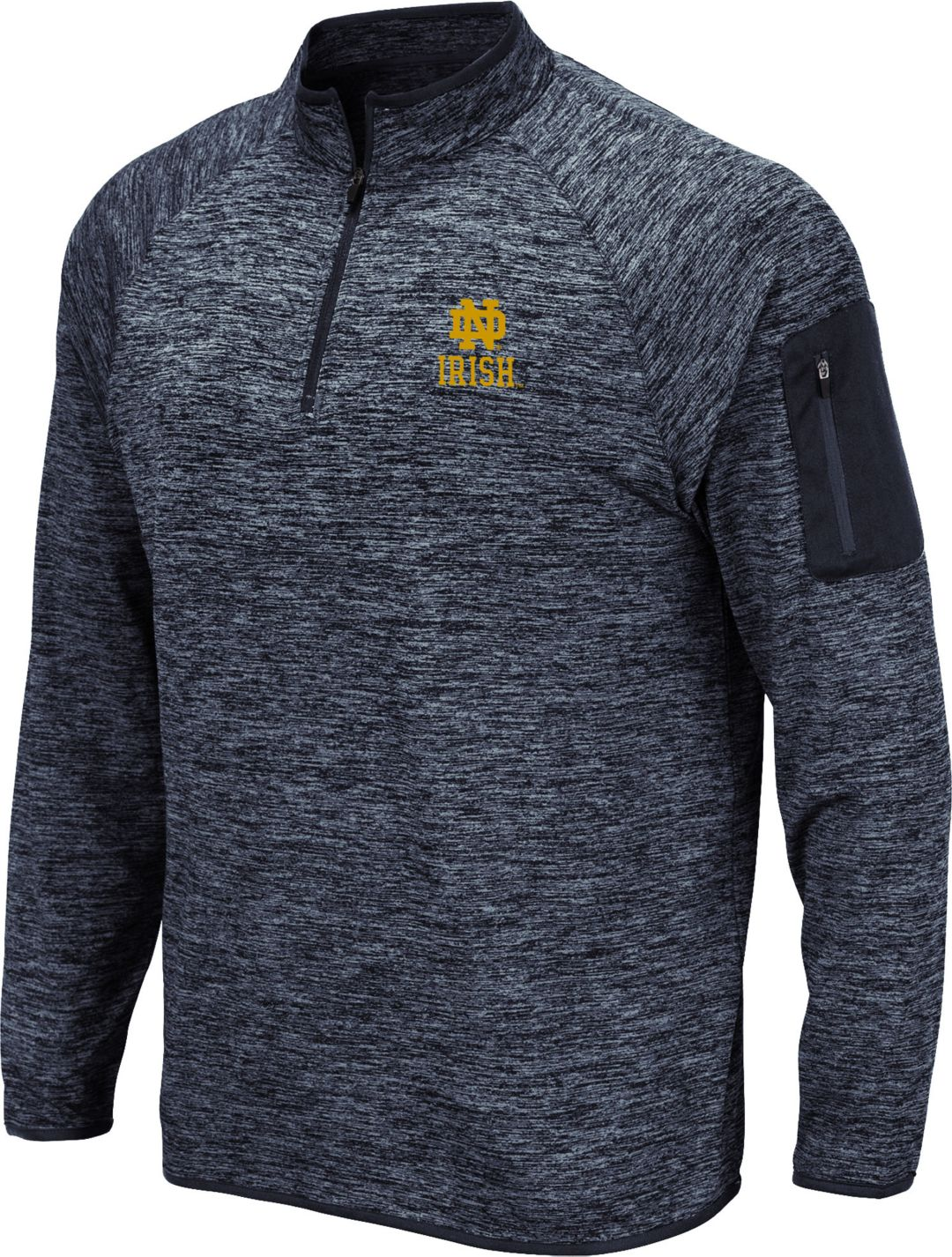 9fd120a7 Colosseum Men's Notre Dame Fighting Irish Navy Quarter-Zip Shirt.  noImageFound. 1