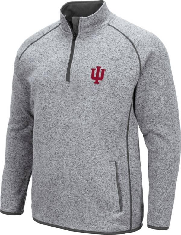 Colosseum Men's Indiana Hoosiers Grey Amur Quarter-Zip Shirt product image