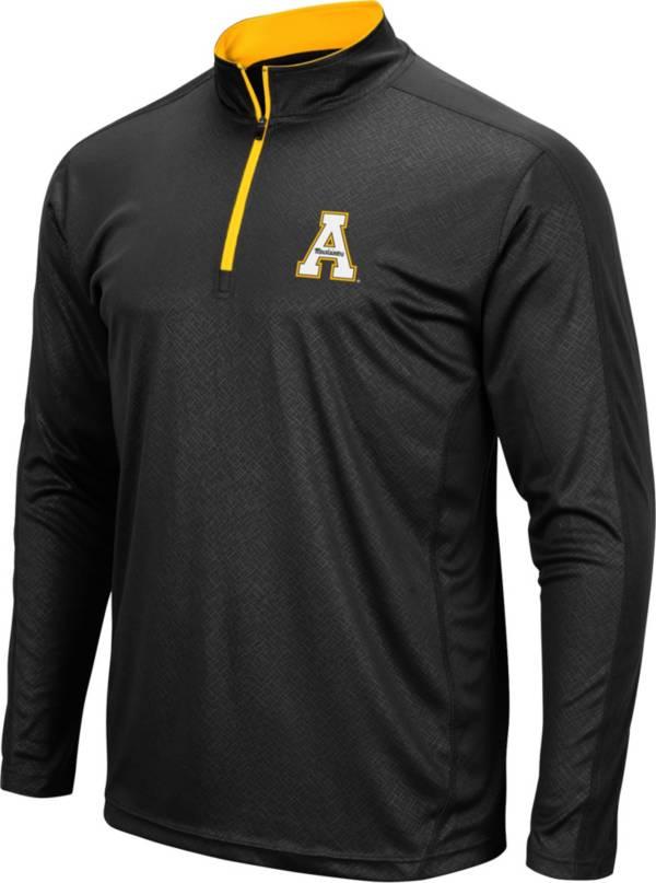 Colosseum Men's Appalachian State Mountaineers Loggerhead Quarter-Zip Black Shirt product image
