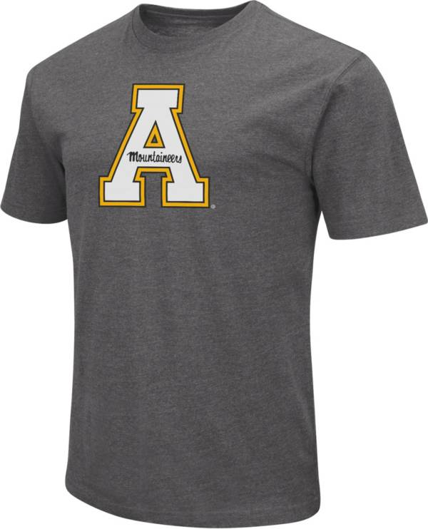 Colosseum Men's Appalachian State Mountaineers Grey Dual Blend T-Shirt product image