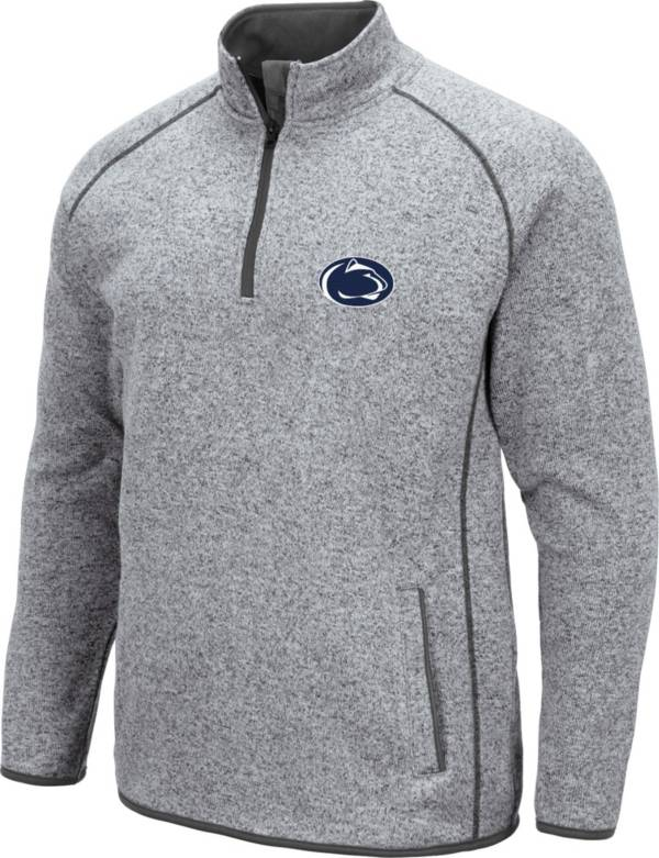 Colosseum Men's Penn State Nittany Lions Grey Amur Quarter-Zip Shirt product image