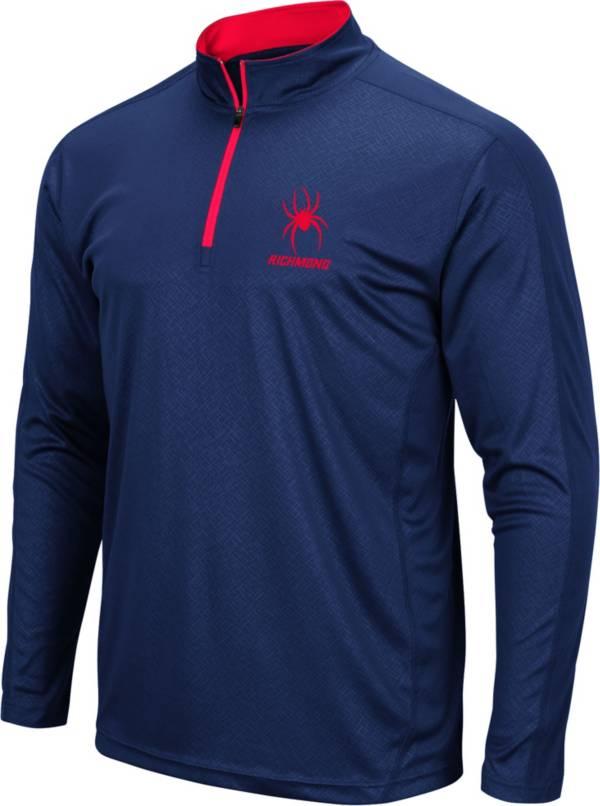Colosseum Men's Richmond Spiders Blue Loggerhead Quarter-Zip Shirt product image