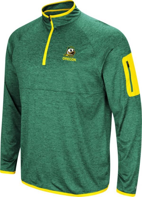Colosseum Men's Oregon Ducks Green Indus River Quarter-Zip Pullover Shirt product image