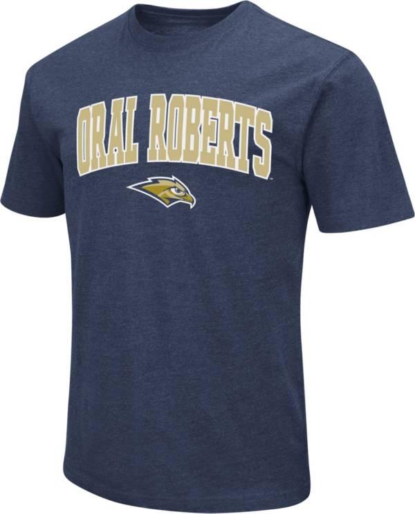 Colosseum Men's Oral Roberts Golden Ealges Navy Blue Dual Blend T-Shirt product image