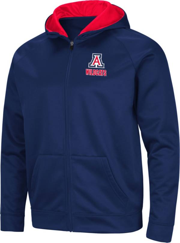 Colosseum Men's Arizona Wildcats Navy Full-Zip Hoodie product image