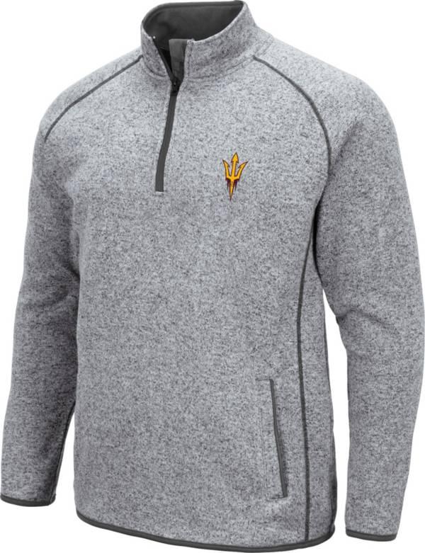 Colosseum Men's Arizona State Sun Devils Grey Amur Quarter-Zip Shirt product image