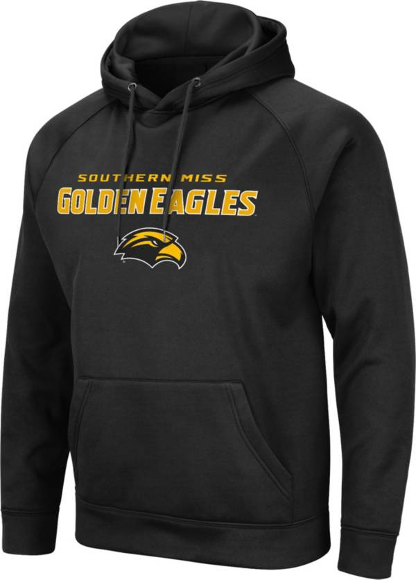 Colosseum Men's Southern Miss Golden Eagles Pullover Black Hoodie product image