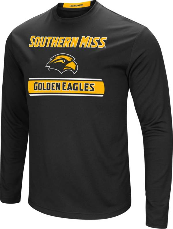 Colosseum Men's Southern Miss Golden Eagles Ganges Long Sleeve Black T-Shirt product image