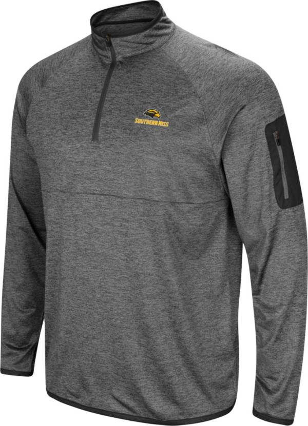 Colosseum Men's Southern Miss Golden Eagles Grey Indus River Quarter-Zip Shirt product image