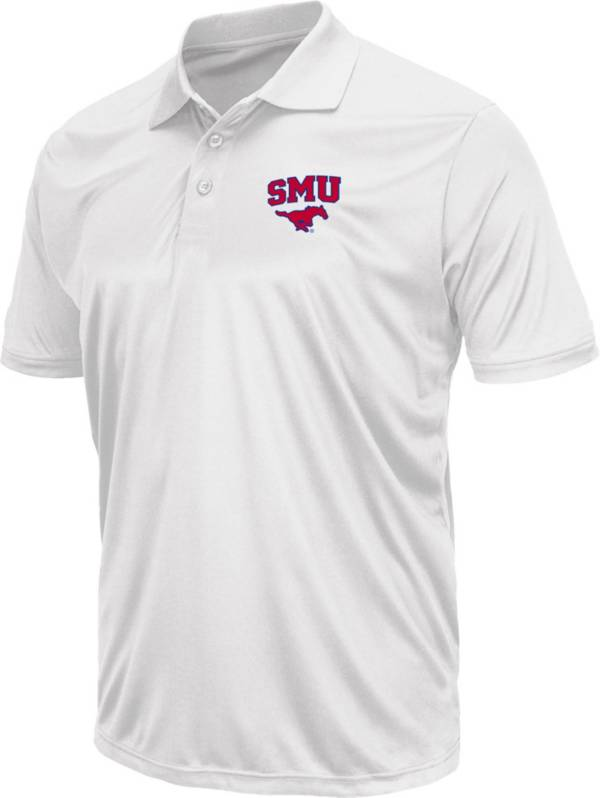 Colosseum Men's Southern Methodist Mustangs White Polo product image
