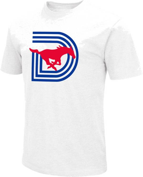 Colosseum Men's Southern Methodist Mustangs Triple D Football White T-Shirt product image