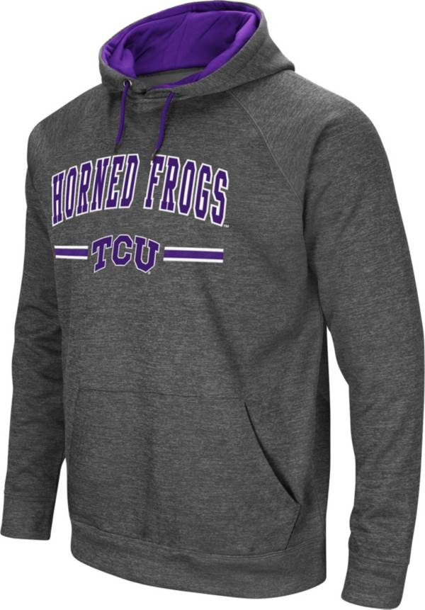 Colosseum Men's TCU Horned Frogs Grey Pullover Hoodie product image