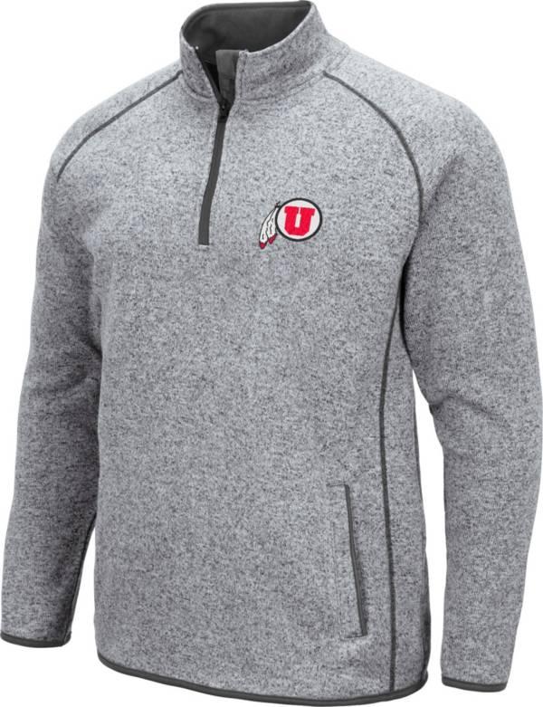 Colosseum Men's Utah Utes Grey Amur Quarter-Zip Shirt product image