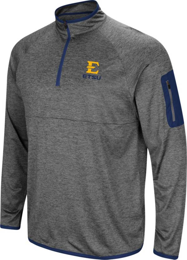 Colosseum Men's East Tennessee State Buccaneers Grey Indus River Quarter-Zip Shirt product image