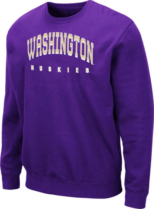 Colosseum Men's Washington Huskies Purple Comic Book Crew Sweatshirt product image