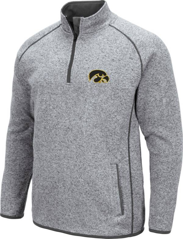 Colosseum Men's Iowa Hawkeyes Grey Amur Quarter-Zip Shirt product image