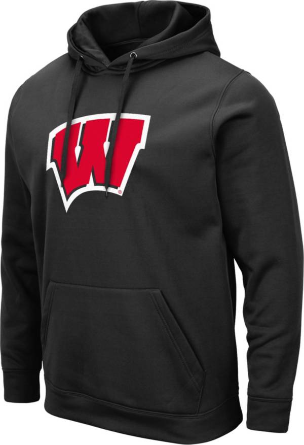 Colosseum Men's Wisconsin Badgers Pullover Black Hoodie product image
