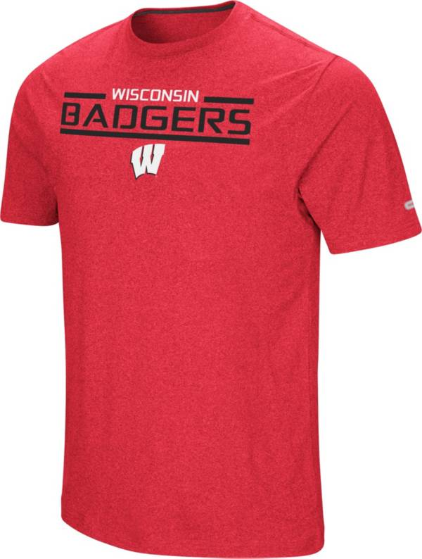 Colosseum Men's Wisconsin Badgers Red Nile T-Shirt product image