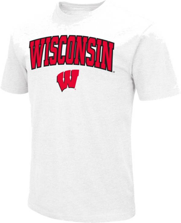Colosseum Men's Wisconsin Badgers Dual Blend White T-Shirt product image
