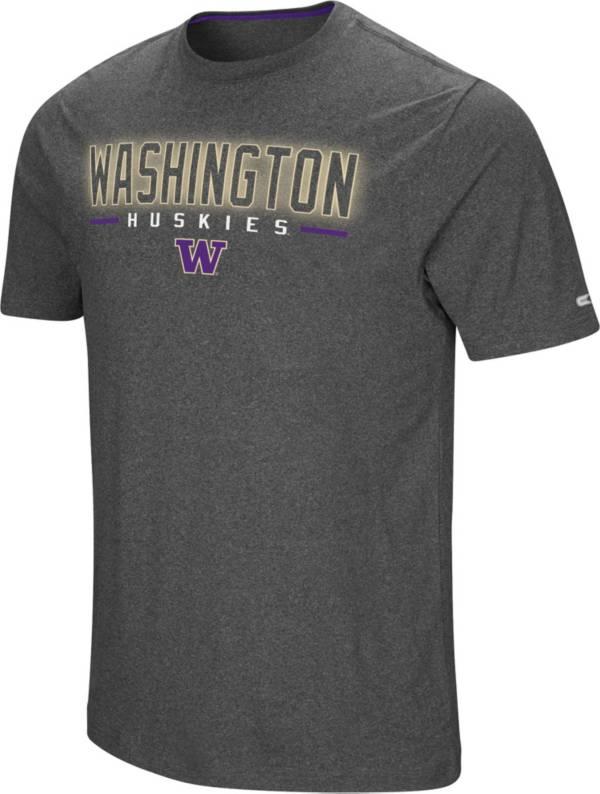 Colosseum Men's Washington Huskies Grey Bluefin T-Shirt product image