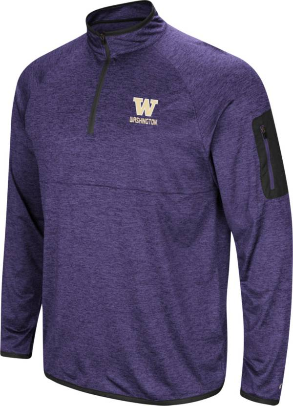 Colosseum Men's Washington Huskies Purple Indus River Quarter-Zip Shirt product image