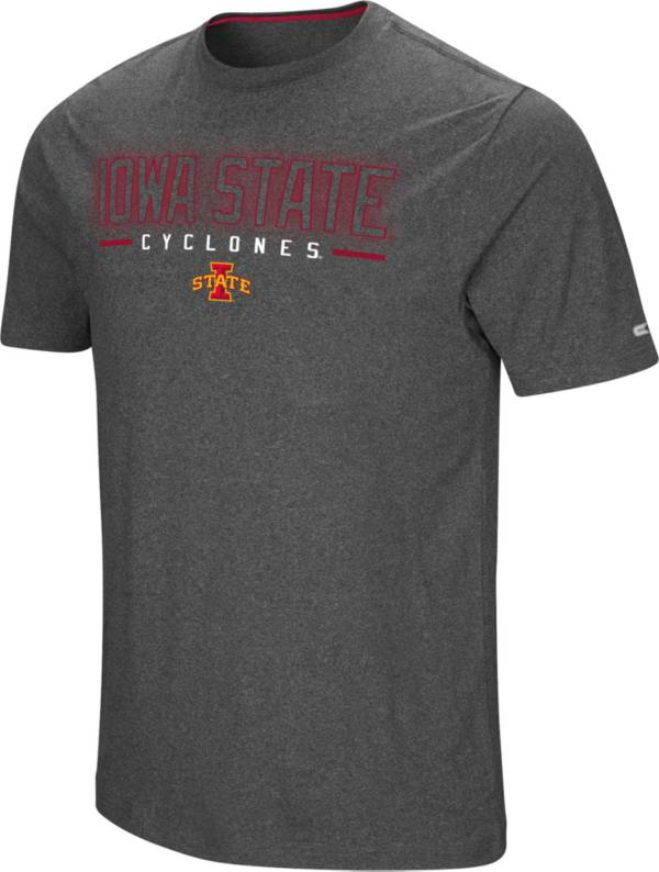 Colosseum Men's Iowa State Cyclones Grey Bluefin T-Shirt product image