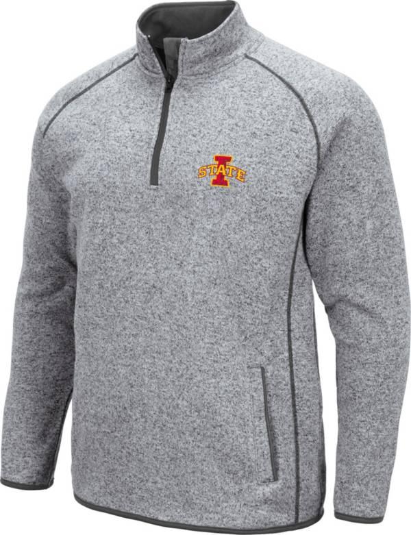 Colosseum Men's Iowa State Cyclones Grey Amur Quarter-Zip Shirt product image