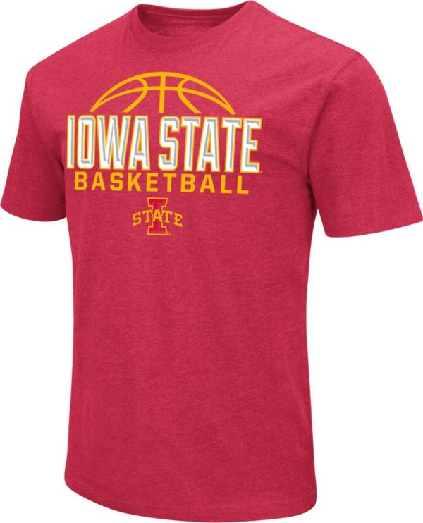 Colosseum Men's Iowa State Cyclones Red Dual Blend Basketball T-Shirt product image