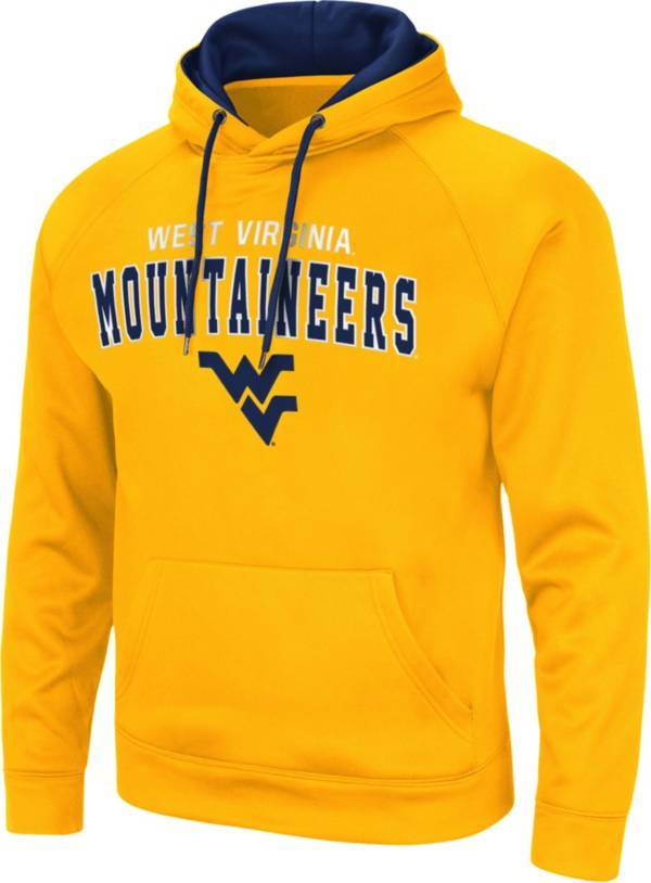 Colosseum Men's West Virginia Mountaineers Gold Pullover Hoodie product image