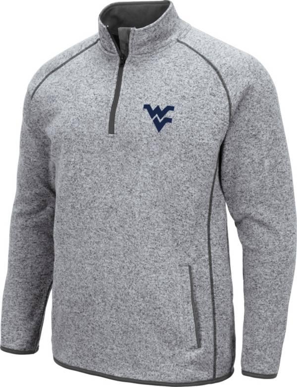 Colosseum Men's West Virginia Mountaineers Grey Amur Quarter-Zip Shirt product image
