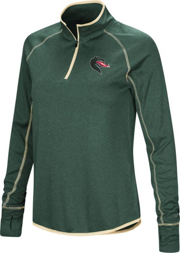 Colosseum Women's UAB Blazers Green Stingray Quarter-Zip Shirt product image
