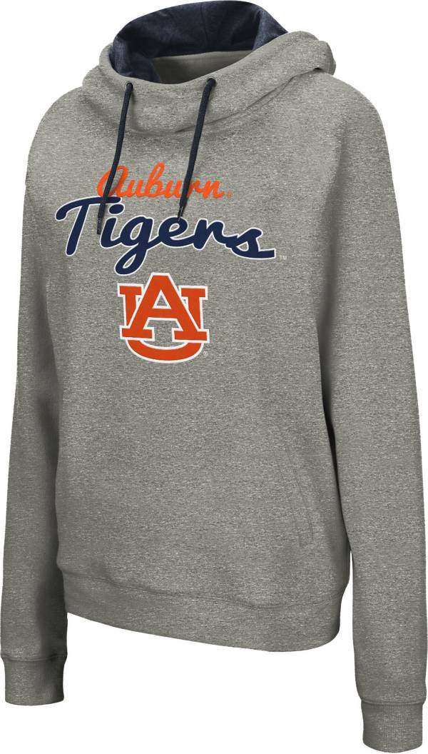 Colosseum Women's Auburn Tigers Grey Studio Funnel Pullover Hoodie product image