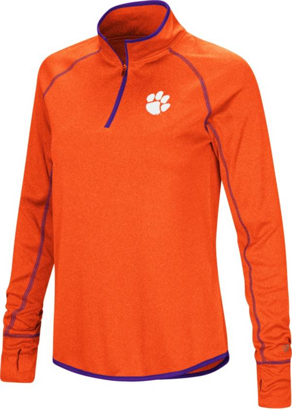 Colosseum Women's Clemson Tigers Orange Stingray Quarter-Zip Shirt product image