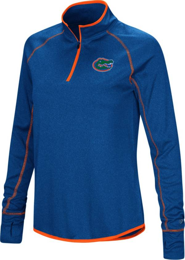 Colosseum Women's Florida Gators Blue Stingray Quarter-Zip Pullover Shirt product image