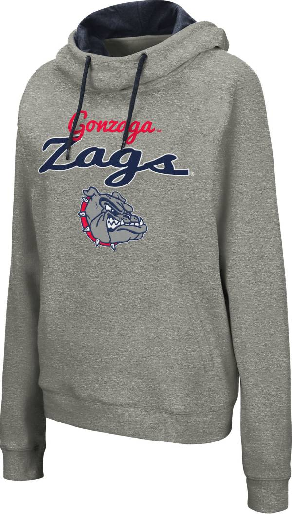 Colosseum Women's Gonzaga Bulldogs Grey Studio Funnel Pullover Hoodie product image