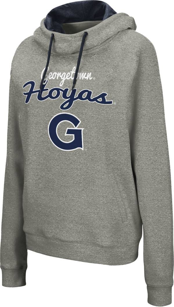 Colosseum Women's Georgetown Hoyas Grey Studio Funnel Pullover Hoodie product image