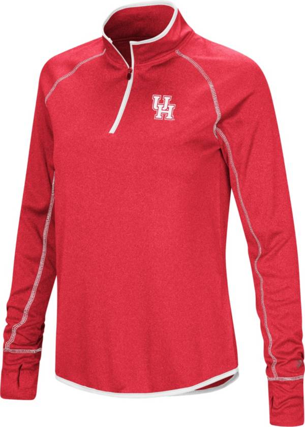 Colosseum Women's Houston Cougars Red Stingray Quarter-Zip Shirt product image