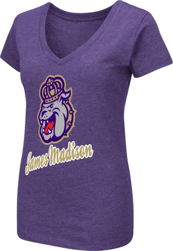 Colosseum Women's James Madison Dukes Purple Dual Blend V-Neck T-Shirt product image