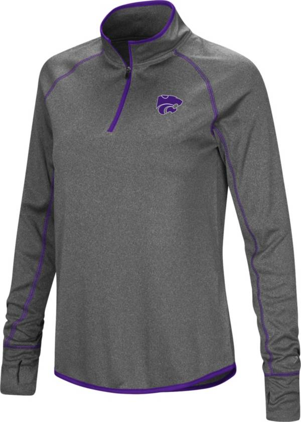 Colosseum Women's Kansas State Wildcats Grey Stingray Quarter-Zip Shirt product image