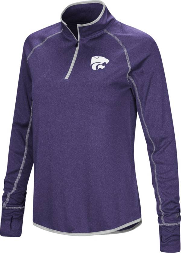 Colosseum Women's Kansas State Wildcats Purple Stingray Quarter-Zip Shirt product image