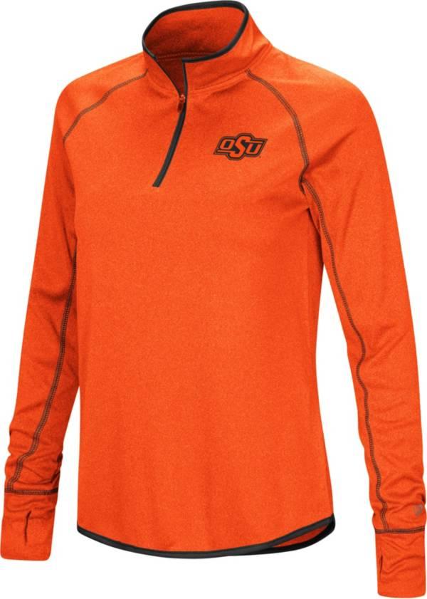 Colosseum Women's Oklahoma State Cowboys Orange Stingray Quarter-Zip Shirt product image